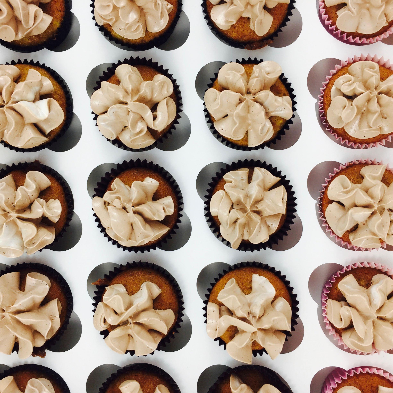MIni Cupcakes de Plátano y Chocolate
